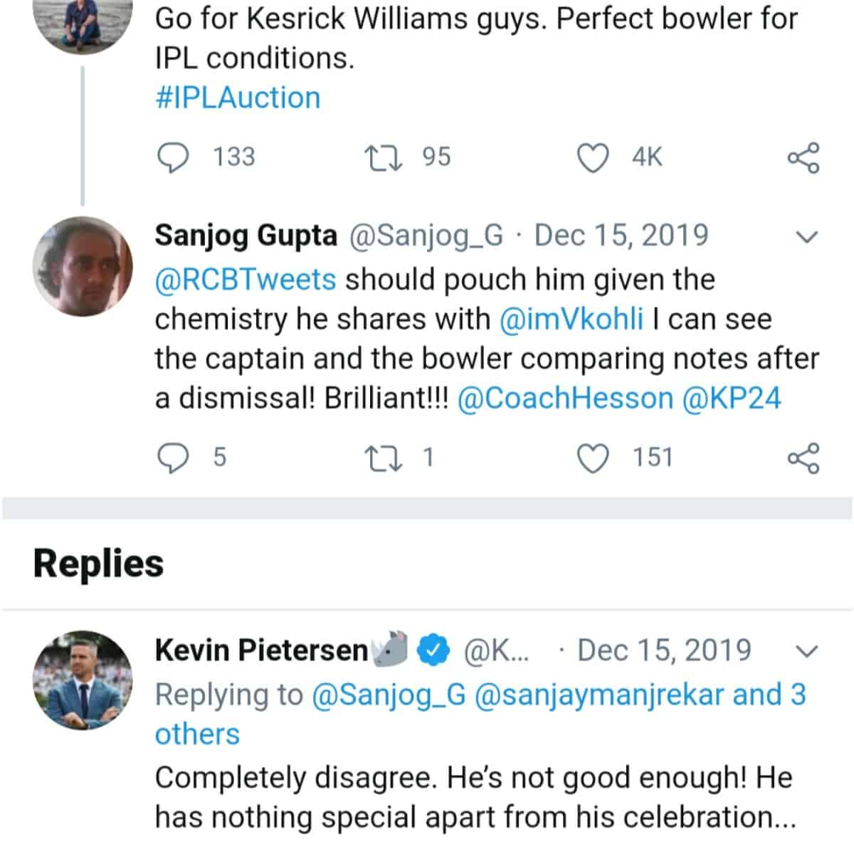 Kesrick Williams lashes out at Kevin Pietersen, Gave reply to his IPL auction statement