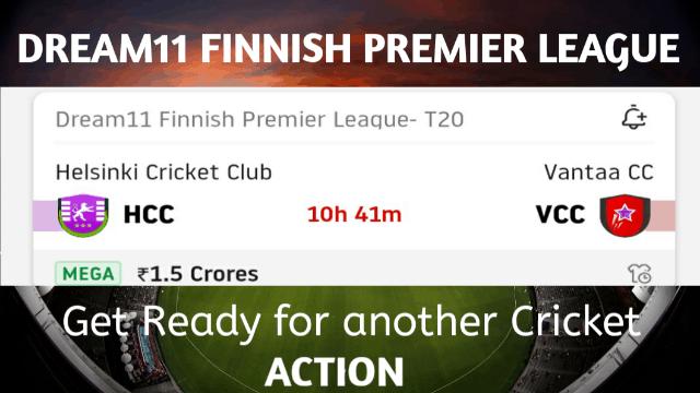 Dream11 Finnish Premier League T20| HCC VS VCC| Dream11 Fantasy Cricket Tips
