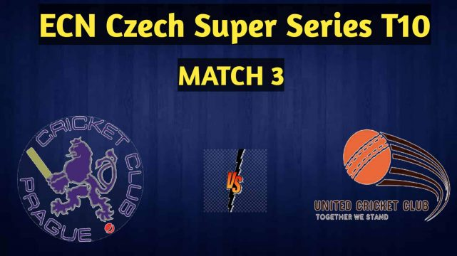UCC vs PCC | Match 3, ECN Czech Super Series T10 | Dream11 today match Prediction and Players Record