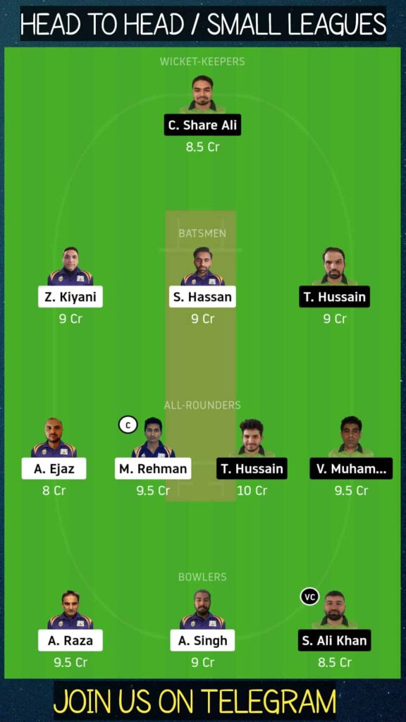 SIG vs PF   Match 12, Dream11 ECS T10 Stockholm   Today Match Prediction and Players Records