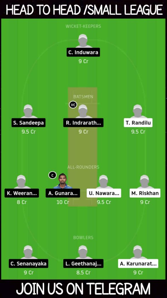 CW vs SH   Match 1,Sri Lanka T10 League   Dream11 Today Match Prediction and Players Records