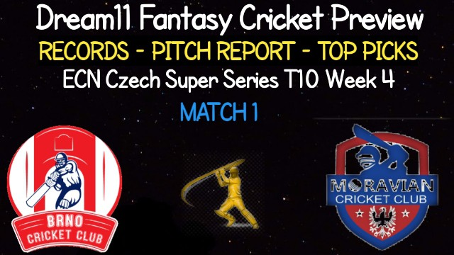 BRP vs MCC   Match 1, ECN Czech Super Series T10   Dream11 Today Match Prediction and Players Records