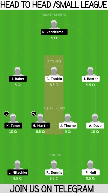 NCC vs PCC   Match 14,Darwin and District ODD   Dream11 Today Match Prediction and Players Records