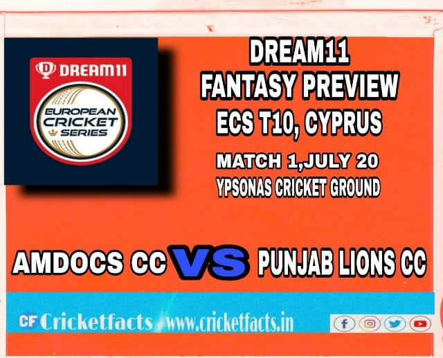 AMD vs PNL | Match 1,ECS T10 Cyprus | Dream11 Today Match Prediction and Players Records