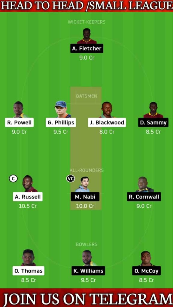 JAM vs SLZ   Match 3, CPL T20 2020   Dream11 Today Match Prediction and Players Records