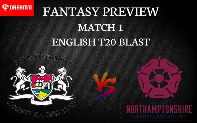 GLO vs NOR   Match 1, English T20 Blast 2020   Dream11 Today Match Prediction and Players Records