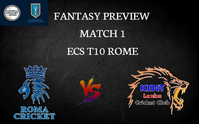 RCC vs KLCC   Match 1, ECS T10 Rome   Dream11 Today Match Prediction and Players Records
