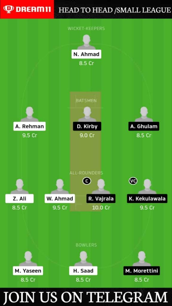 JJB vs RCCC | Match 7, ECS T10 Rome | Dream11 Today Match Prediction and Players Records