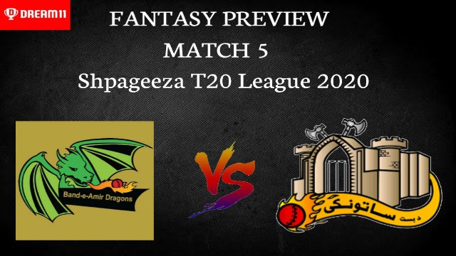 BD vs BOD| Match 5, Shpageeza T20 League 2020 | Dream11 Today Match Prediction and Players Records