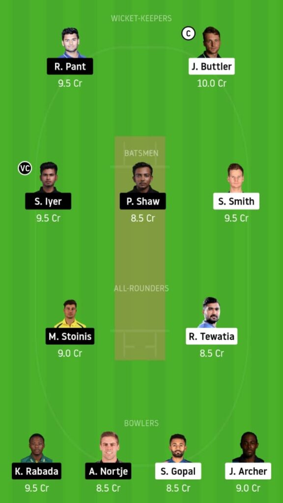 RR vs DC Dream11 Match Prediction & Fantasy Tips   Playing XI, Pitch Report and Head To Head - Match 23,IPL 2020