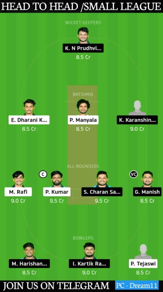 WAR-XI vs LEG-XI Dream11 Today Match Prediction & Players Record   Match 15,Karbonn Andhra T20 2020