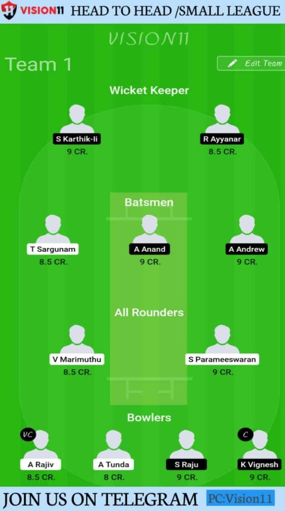 BUL vs LIO Prediction, Vision11 Fantasy Team & Players Record | Match 11, Siechem Pondicherry T20 2020
