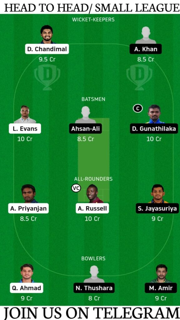 CK vs GG Dream11 Prediction, Fantasy Cricket Tips, Playing XI, Pitch Report and Players Record   1st Semi-final, Lanka Premier League T20 2020