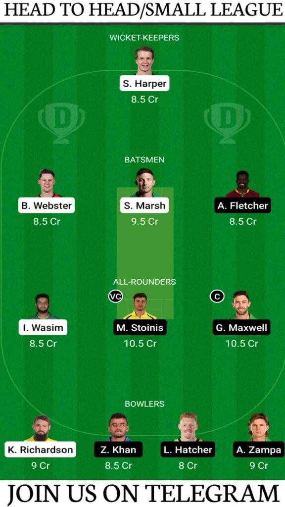 REN vs STA Dream 11 Prediction, Fantasy Cricket Tips, Playing XI, Pitch Report and Players Record — Match 45, KFC BBL 2020-21