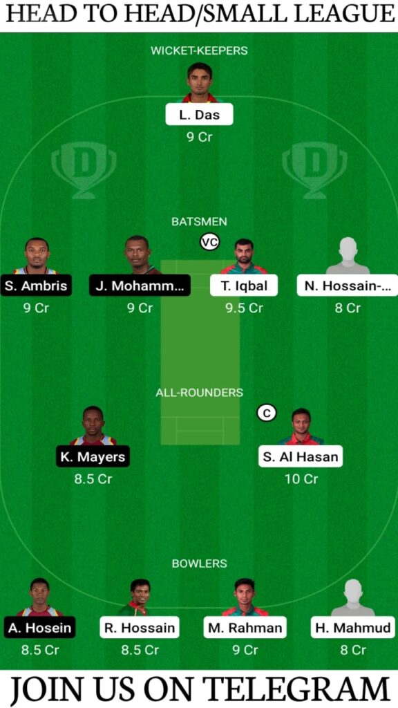BAN vs WI 2nd ODI, Bangladesh vs West Indies Dream11 Prediction, Fantasy Cricket Tips, Playing XI, Pitch Report and Head To Head Record | Match 2, ODI Series 2021