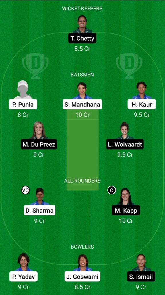 IN-W vs SA-W 1st ODI Dream11 Match Prediction, Fantasy Cricket Tips, Head To Head Record, Playing XI and Pitch Report — India Women vs South Africa Women ODI Series 2021