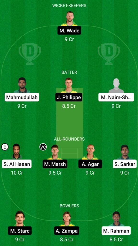 BAN vs AUS Dream11 Match Prediction, Players Stats, Fantasy Team, Playing XI, Head To Head and Pitch Report — Match 1, Bangladesh vs Australia T20I